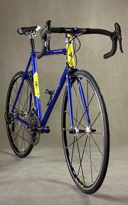Road bike 3/4 front view