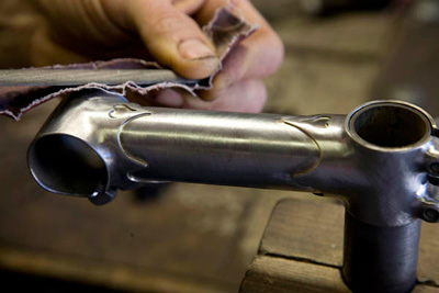 Polishing the stem